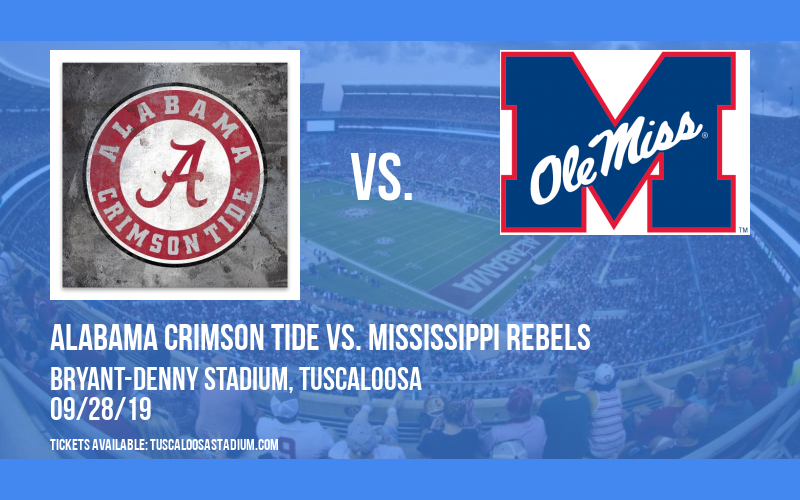 Alabama Crimson Tide vs. Mississippi Rebels at Bryant-Denny Stadium