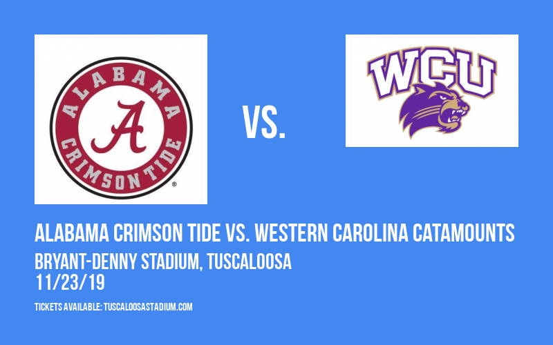 Alabama Crimson Tide vs. Western Carolina Catamounts at Bryant-Denny Stadium