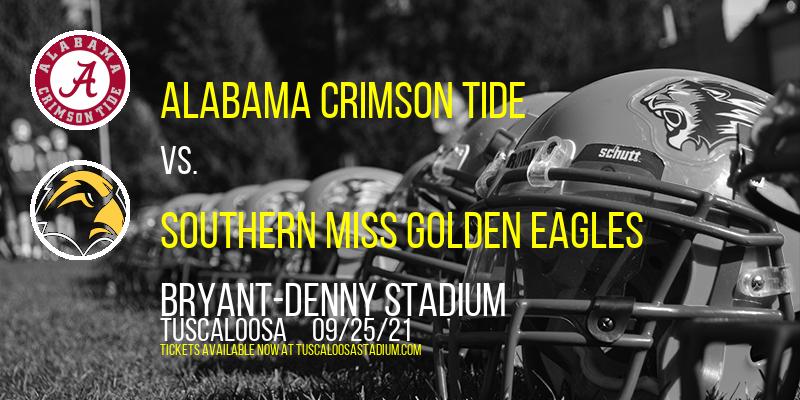 Alabama Crimson Tide vs. Southern Miss Golden Eagles at Bryant-Denny Stadium