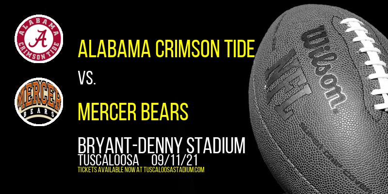 Alabama Crimson Tide vs. Mercer Bears at Bryant-Denny Stadium